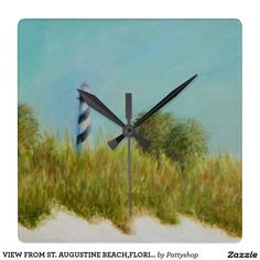 VIEW FROM ST. AUGUSTINE BEACH,FLORIDA Wall Clock