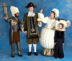 Beauty and the Beast Costume Rentals - Lumiere, Cogsworth, Mrs. Potts, Chip