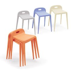 Yuyu, designed by Stefano Giovannoni for Magis - The ideal stacking stool! Polypropylene with glass fibre added. Air moulded. Suitable for outdoor use.