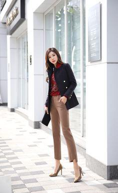 Look at this Classy korean fashion outfits 6956651874 Korean Fashion Winter, Korean Fashion Summer, Korean Fashion Casual, Korean Fashion Trends, Korean Street Fashion, Korea Fashion, Korean Outfits, Mode Outfits, Curvy Fashion