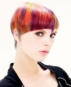 Colorful Hair Style Idea 2014