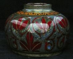 Pilkington's Lustre vase decorated with stylised flowers by William Mycock.