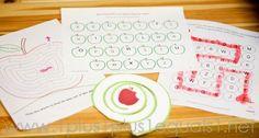 Apple Theme Kindergarten Fun - 1+1+1=1