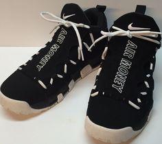 save off 6b3dc 8ea45 Size 10.5 Men Nike Air More Money Shoes Black White AJ2998 001  fashion   clothing