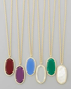 Kendra Scott Danielle Birthstone Necklace - Neiman Marcus Christmas Book  #christmasgifts #neimanmarcus