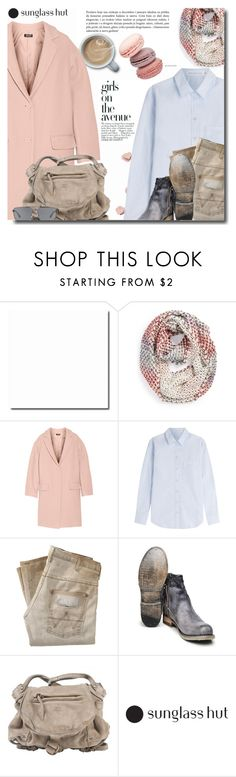 """""""with Sunglass Hut"""" by bynoor ❤ liked on Polyvore featuring Avenue, Michael Stars, DKNY, dVb Victoria Beckham, Wrangler, Jérôme Dreyfuss and Emporio Armani"""