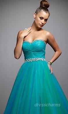 A-Line Taffeta Sweetheart Long Dress Charm86479