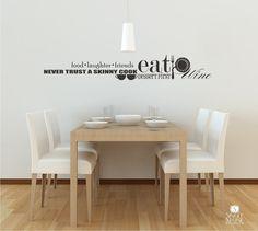 Food and Wine Wall Decal Collage  Vinyl Text by singlestonestudios, $38.00