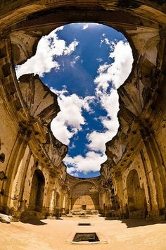 Ruins of Guatemala Cathedral [best allegory for the Firmament, a church in ruins open to the sky above]