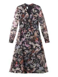 Fantastic Animals-print silk dress SG$4015