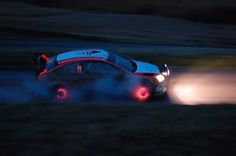 Rally cars: spot them by their glowing rotors.