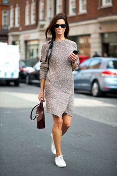 LE CATCH: the sweater dress (with sneakers for warmer weather... tights and boots for Winter)