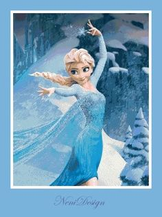 chez disney - Page 2 Dmc Embroidery Floss, Cross Stitch Embroidery, Cross Stitch Charts, Cross Stitch Patterns, Frozen Cross Stitch, Frozen Pattern, Disney Stitch, Crochet Cross, Elsa Frozen