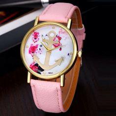 Pink anchor analog wrist watch Brand new never worn Accessories Watches