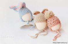 épinglé par ❃❀CM❁✿Крючком. Теплые шапочки для яицtout mignon à crocheter pour les oeufs de Pâques