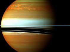 Take a look at the trainwreck of stormclouds on the surface of Saturn after a massive storm churned up the atmosphere.