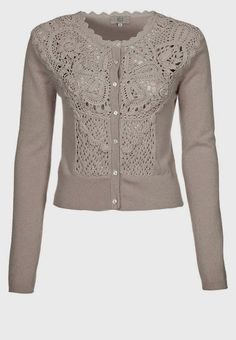 Outstanding Crochet: Noa Noa cardigan with crochet/knitted front.