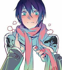 Noragami ノラガミ - Yato in Hiyori's scarf Yato X Hiyori, Anime Noragami, Manga Anime, Anime Art, Me Me Me Anime, Anime Love, Awesome Anime, Otaku, Yatori