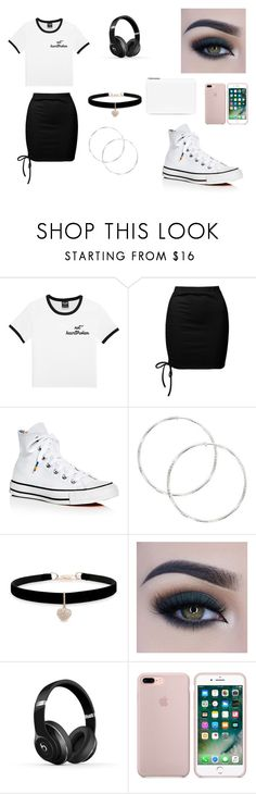 """Sky High"" by angel-wwe-forever ❤ liked on Polyvore featuring Sans Souci, Converse, Betsey Johnson, Too Faced Cosmetics, Beats by Dr. Dre and Maison Margiela"