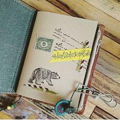 パスポートサイズのリフィルをコラージュ🌼 ・ ・ #midoritravelersnotebook #travelersnote#travelersnotebook #トラベラーズノートパスポートサイズ#マスキングテープ#マステ#washitape#maskingtape #stamps#stamp#スタンプ #コラージュ#stationary#stationery #チャルカ#トラベラーズファクトリー