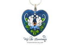 Enchanted nénuphar coeur pendentif bijoux en par WizArtCreations