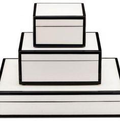 Lille White/Black stacking boxes #organize   NEAT Method