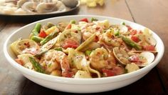 Olive Garden's Pappardelle Pescatore