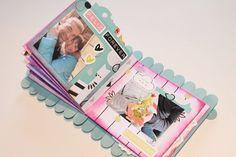 Mi flip flap flop book, o vaya, lo que es lo mismo, un mini álbum scrapbook Cool Paper Crafts, Scrapbook Paper Crafts, Fun Crafts, Mini Albums Scrap, Mini Scrapbook Albums, Mini Photo Albums, Popsicle Stick Crafts, Craft Stick Crafts, Craft Projects For Kids