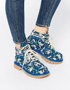Cat Ridge Walala Skydiver Lace Up Ankle Boots