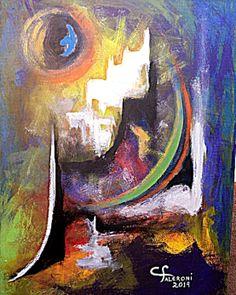 Pintura. Artista Maria Cristina Faleroni Titulo de la Obra : Entre el día y la noche.