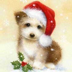 Diamond Painting Fluffy Christmas Puppy Kit Offered by Bonanza Marketplace. Diamond Painting Fluffy Christmas Puppy Kit Offered by Bonanza Marketplace. Diamond Painting Fluffy Christmas Puppy Kit Offered by Bonanza Marketplace. Christmas Puppy, Christmas Hat, Christmas Clipart, Christmas Animals, Christmas Printables, All Things Christmas, Christmas Crafts, Merry Christmas, Christmas Holidays