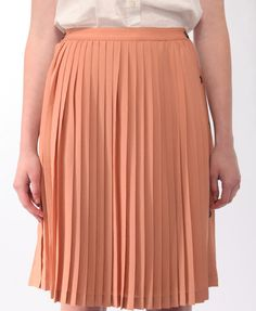 For when I have a waist again: Pleated Buttoned Midi Skirt | LOVE21