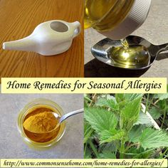 ❤ 20 Home Remedies For Allergies ❤
