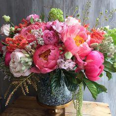 "298 Likes, 10 Comments - Gotham Florist (@gothamflorist) on Instagram: ""#peonies everywhere! #coralcharmpeony"""