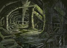 The Elder Scrolls V: Skyrim Art & Pictures,  Nordic Barrow Ruins Interior