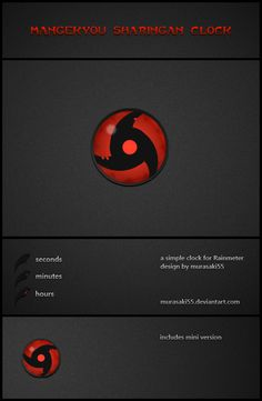 Aclock rainmeter skin rainmeter skins pinterest mangekyou sharingan clock by murasaki55 gumiabroncs Image collections
