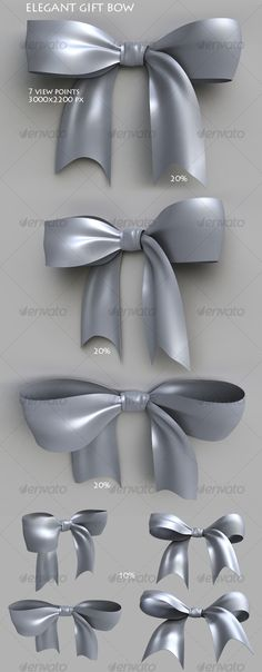 Elegant gift bow - Objects 3D Renders