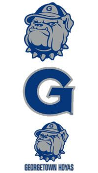 Product: Georgetown Hoyas Mascot and Initial Decal