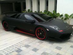 Lamborghini Murcielago- Side View ~ Bridal Car BY RedOrca Sdn Bhd Bridal Car, Car Rental, Side View, Lamborghini, Vehicles, Red, Wedding, Valentines Day Weddings, Car