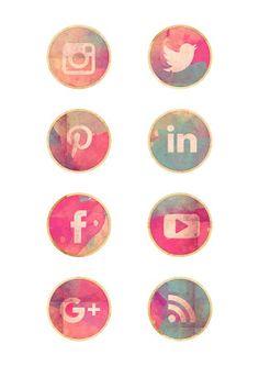 Nuskina: Iconos de redes sociales gratis