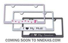 Click Image Above To Purchase: Swarovski Crystals Pet License Plate Frames License Plate Frames, License Plates, Bling Car Accessories, Premium Cars, Austrian Crystal, Swarovski Crystals, Lovers, Stuff To Buy, Animal