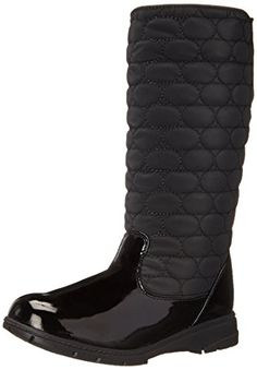Soft Style by Hush Puppies Women's Paris Boot, Black Vylon/Patent, 7.5 2E US -- Click image to review more details.