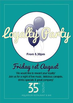 Join the loyalty party!