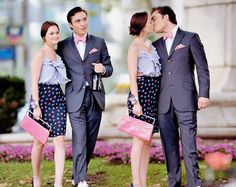 Love me some matching outfits for Chuck and Blair. Pink especially && this is one of the best episodes!