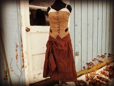 Upcycled Tweed Slip Dress// Small Medium// Brown by emmevielle, $125.00