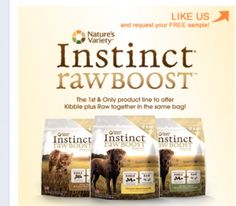 Free Sample of Instinct Dog or Cat Food