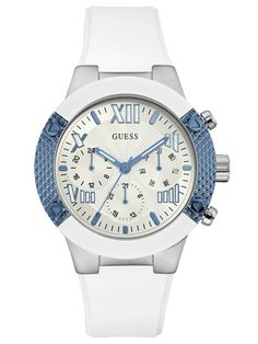A collection of Iconic signature combinations inspired by the GUESS lifestyle. Trendy fashion-forward designs from GUESS Watches offer dynamic styling. Fashion Days, Trendy Fashion, Glamour, Casual Watches, Watch Sale, Stainless Steel Watch, Michael Kors Watch, Rolex Watches, Quartz