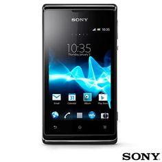 """Smartphone Sony Xperia E Dual Chip C1604 com Google Tela 3,5"""", 3G e Wi-Fi + Capa Protetora Krusell para Xperia-E Dual Branca"""