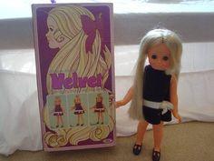 Velvet Doll with growing hair