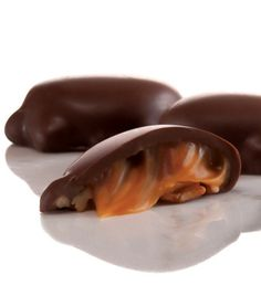 Pecans, caramel, milk chocolate from Fannie May